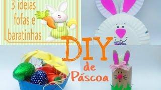 DIY Páscoa/ 3 ideias fofas e baratinhas de cestinhas