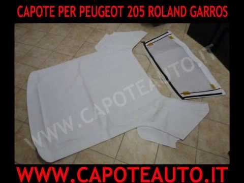 cappotta capote peugeot 205 roland garros cabrio in pvc. Black Bedroom Furniture Sets. Home Design Ideas