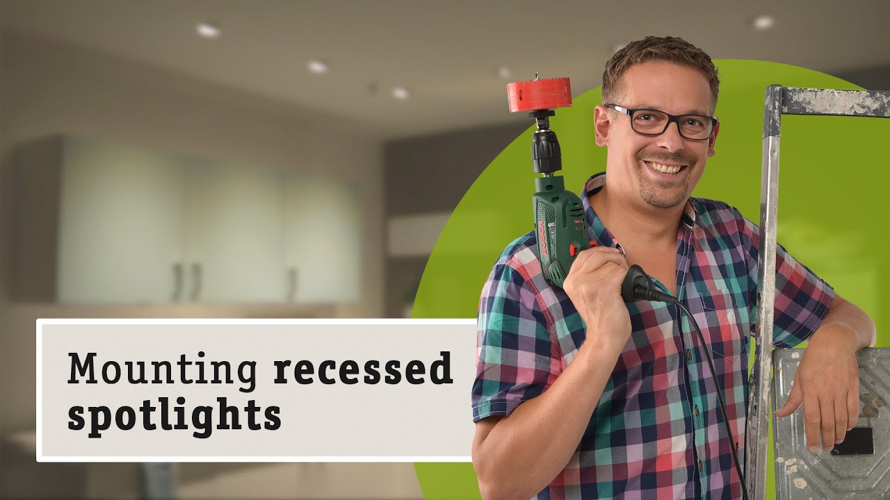 Installing LED recessed lighting made easy - YouTube