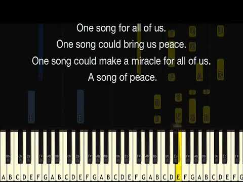 KARAOKE - Song of Peace - Choir Song for Children