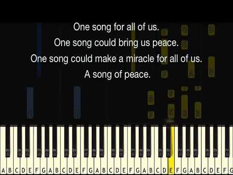 KARAOKE  Song of Peace  Choir Song for Children