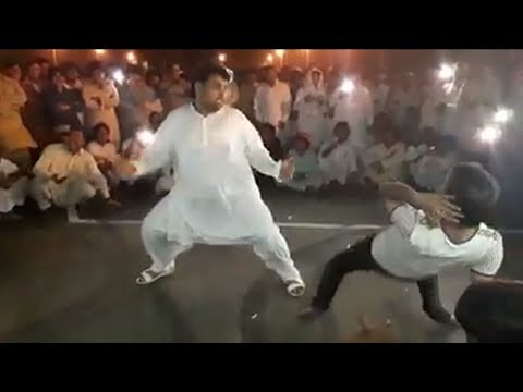 Pashto 2017 Funny Eid dance road party programme in UAE.