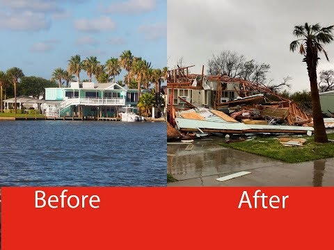 Rockport-Fulton In Texas : Before The Storm, After The Storm