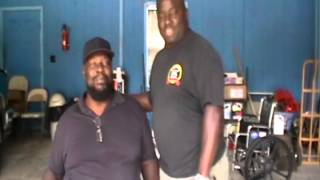 WWE Wrestling Legend Kamala gets new scooter from friend KoKo B. Ware