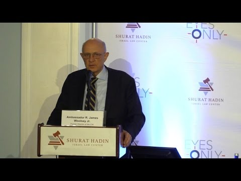Shurat HaDin's Eyes Only 2016 - Keynote Speaker   Robert James Woolsey Jr