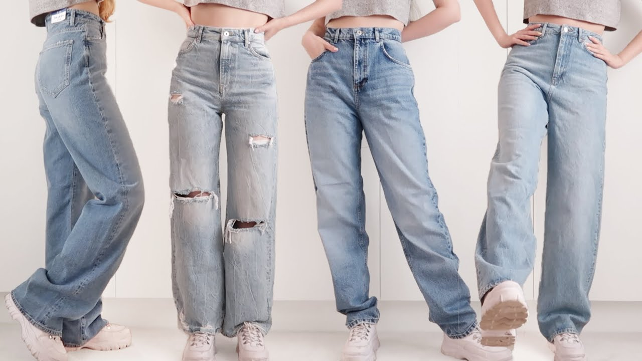 Finding the PERFECT Baggy Jeans • Try-On Haul - YouTube
