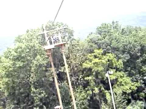 Saesans on the zip line @ massanutten resort - YouTube
