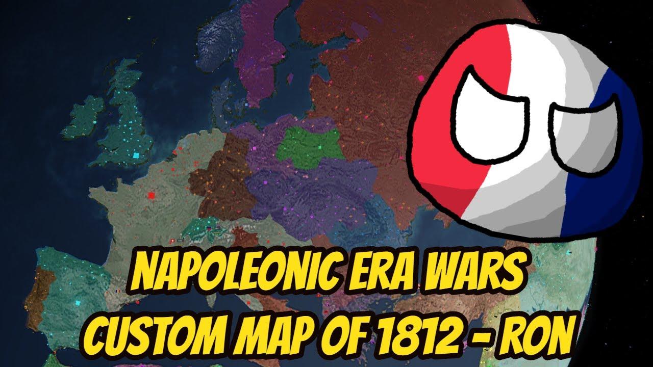 Roblox World Map With Borders 1812 World Napoleonic Era Custom Borders Roblox Rise Of Nations 7 Youtube