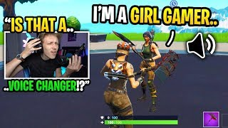 I CONFRONTED a girl gamer for using a VOICE CHANGER in Fortnite... (is she LYING?)