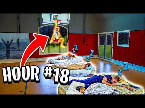 24 HOUR CHALLENGE IN BASKETBALL GYM!