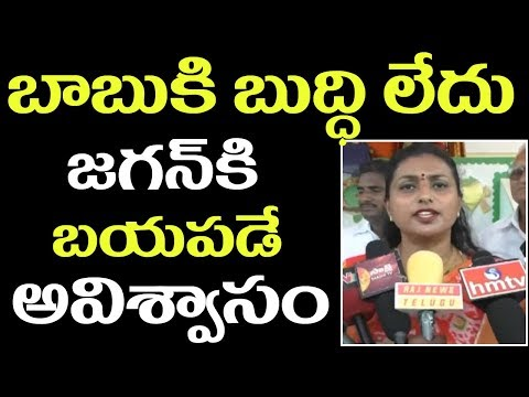 YSRCP MLA Roja Fires On AP CM Chandrababu over His Comments on Jagan || 2day 2morrow