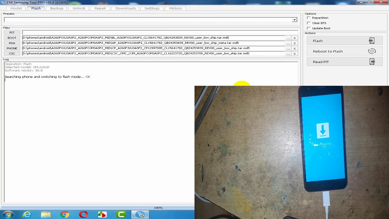 A260f/A260G (samsung A2 core) FRP reset by z3x – devices fixer