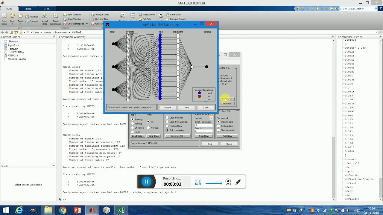 Anfis Modelling Using Matlab Youtube