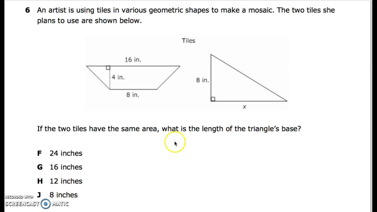 Grade 6 Geometry /& Measurement