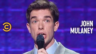 """John mulaney realizes he's becoming more and like his mother as he gets older mocks the title of """"home alone 2: lost in new york.""""subscribe to comed..."""