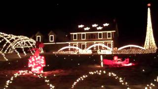 Cool Xmas Lights at House in Auburn, Maine