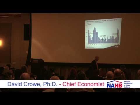 David Crowe, Ph.D. Chief Economist National Home Builders Association