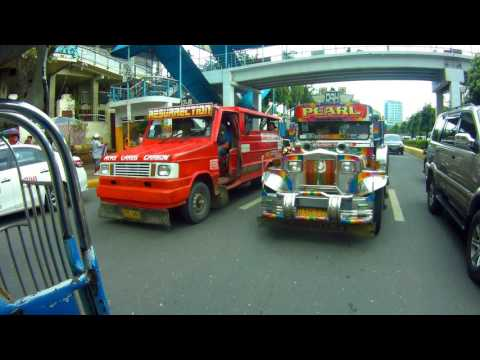SIGHTS AND SOUNDS OF THE STREET FROM JEEPNEY BACK DOOR