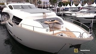 2019 Sunseeker 95 Luxury Yacht - Deck and Interior Walkaround - 2018 Cannes Yachting Festival