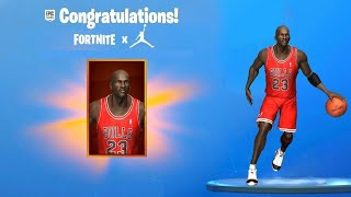 JORDAN X FORTNITE (FREE SKINS WITH CHALLENGES! Michael Jordan Skin!)