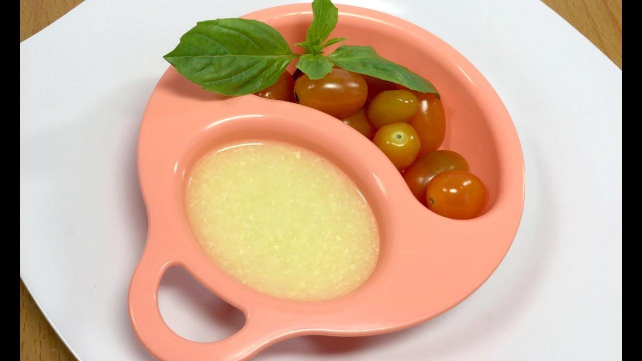 Món Ăn Cho Bé Tập Ăn Dặm – Cháo Trứng Cà Chua
