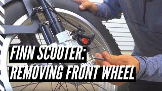 How to remove the front wheel on a Finn Scooter