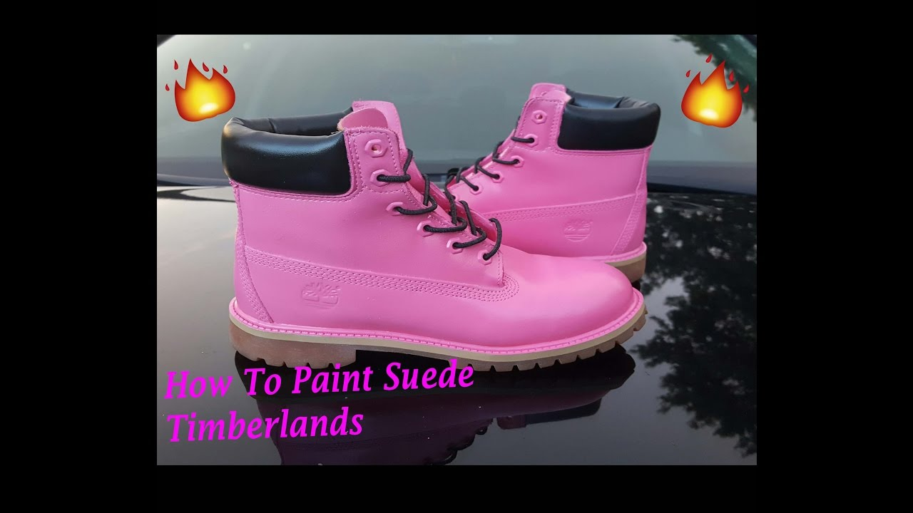 How To Paint Suede Timberlands
