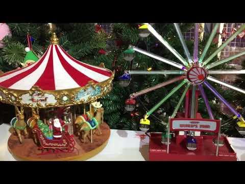 Christmas Merry Go Round Carousell & Ferris Wheel Music Box