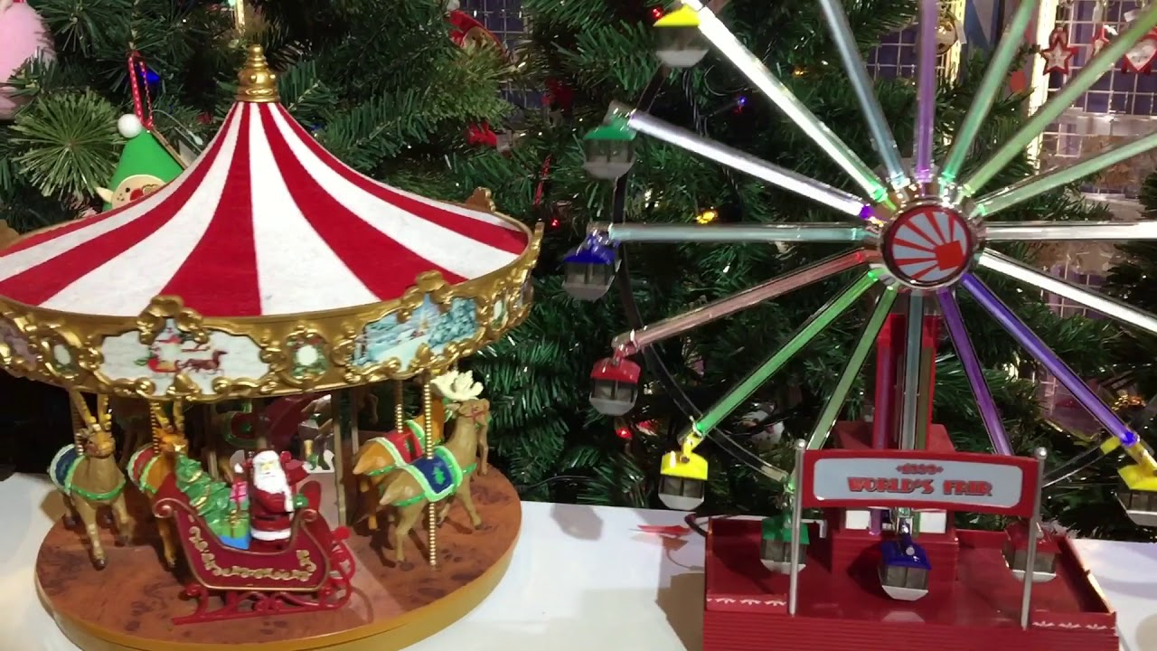 Christmas Ferris Wheel Music Box.Christmas Merry Go Round Carousell Ferris Wheel Music Box