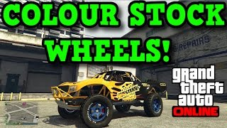 Gta 5 online: how to paint stock rims! - change any stock rim colour!