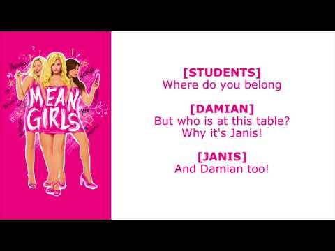 Where Do You Belong Lyric Video - Original Broadway Cast of Mean Girls