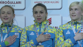 52ND EKF SENIOR CHAMPIONSHIPS - FEMALE TEAM KUMITE - UKRAINE (moments)