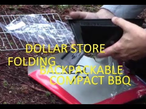 DOLLAR STORE FOLDING, BACKPACKABLE , COMPACT BBQ