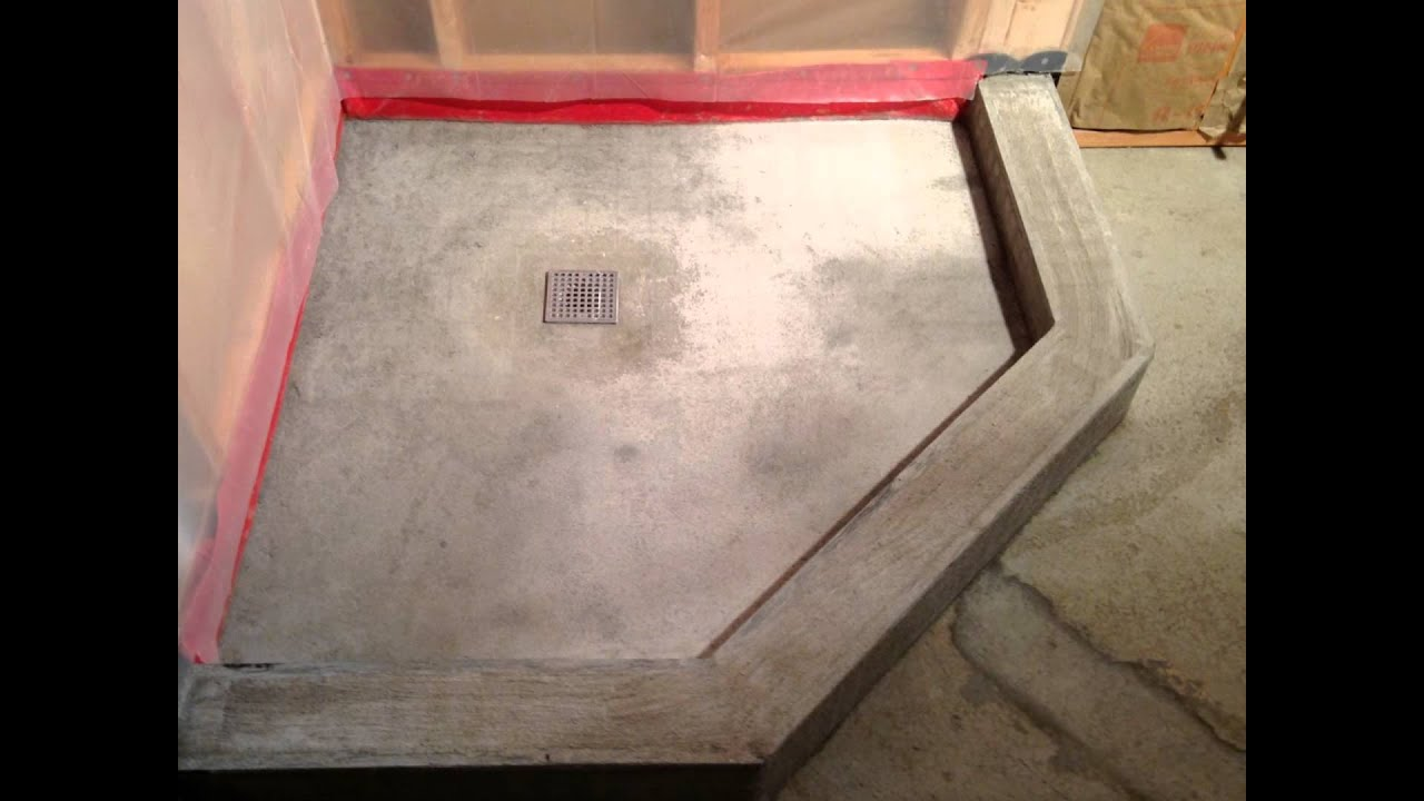 Basement Bathroom With Neo Angle Shower Pan