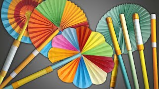 Magic Hand Fan | Magic Paper Fan | How To Make Magic Hand Fan Or Paper Fan | DIY Hand Fan