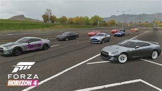 Forza Horizon 4 | 1000+HP RWD GTR Drag Build - 1000+HP Highway/Street Racing (Digs/Rolls)