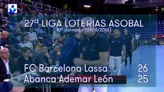 LIGA LOTERIAS ASOBAL J10 FC Barcelona Lassa - Abanca Ademar León 26 - 25