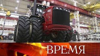 Владимиру Путину показали новую технику на заводе «Ростсельмаш».