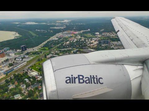 [4K] Air Baltic B737-500 YL-BBQ landing @ Tallinn Airport