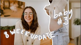 8 Week Update + Belly Shot for Baby #3!!! // Young Mom of 2