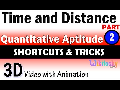 Time and Distance 2 aptitude test preparation tricks online videos lectures exam tips