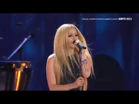 Avril Lavigne - Fly Live at Special Olympics Opening Ceremony 2015