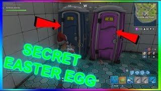 NEW SECRET EASTER EGG IN FORTNITE BATTLE ROYALE(TOILET EASTER EGG IN FORTNITE)