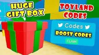 2 neue geheime Spielzeug Boost Codes & Brechen riesige Geschenk-Box + legendäre Hüte | Unboxing Simulator! Roblox]