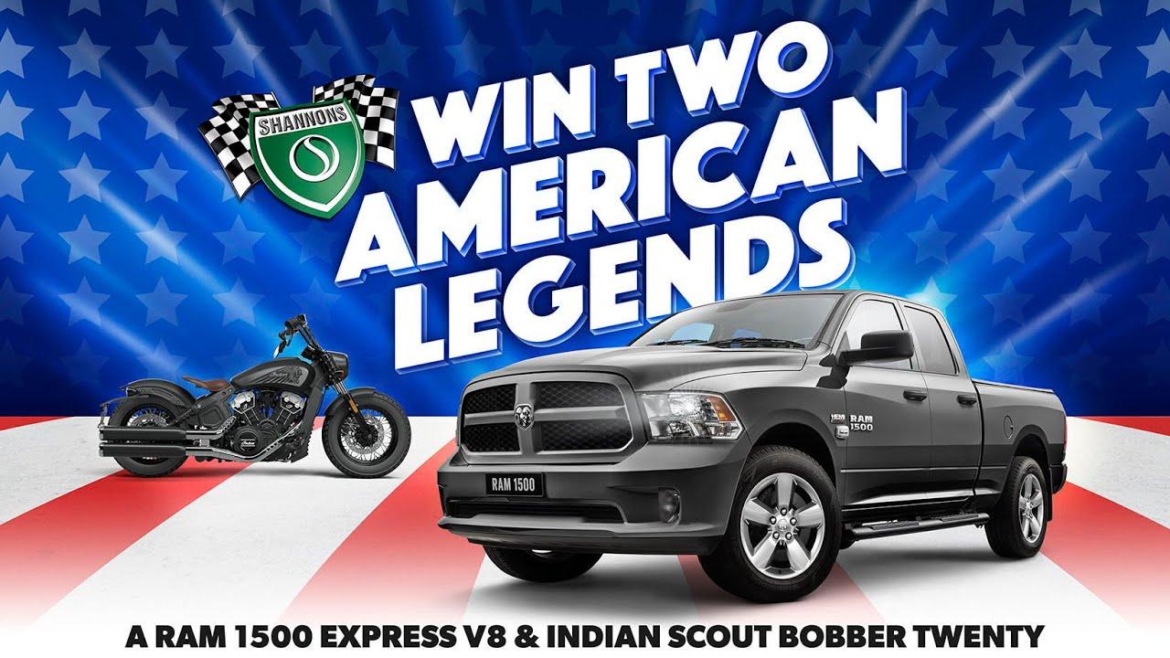 Win Two American Legends: A RAM 1500 Express V8 & Indian Scout Bobber Twenty