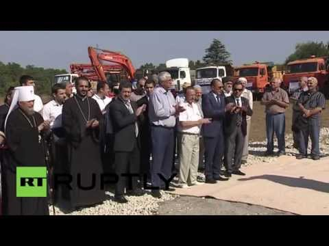 Russia: PM Aksyonov inaugurates work on Crimea's new main mosque