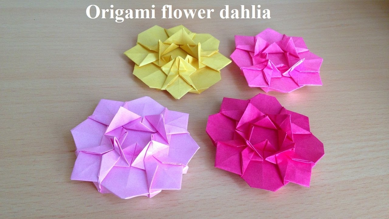 折り紙の花 ダリア 折り方niceno1origami Flower Dahlia Youtube