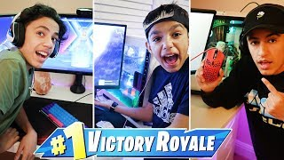 Insane 2019 Fortnite Gaming Setup Wars With Brothers! 2019 Gaming Setup Tour!