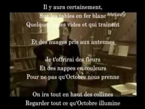 Octobre Francis Cabrel avec paroles lyrics