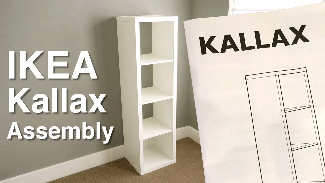 Ikea Kallax Ikea Kallax Shelf Assembly Step By Step